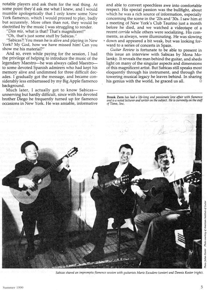 Sabicas And Mario Escudero Escudero Las Fabulosas Guitarras De Sabicas Y Escudero
