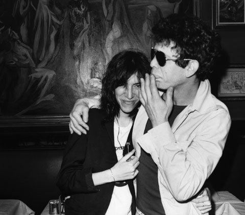 Patti Smith with Lou Reed